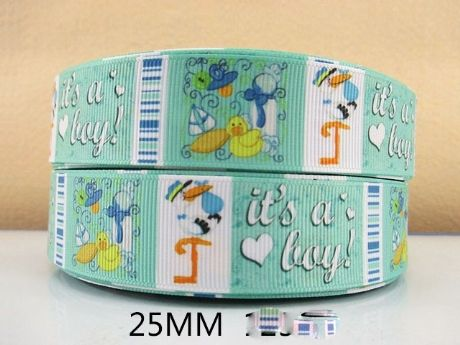 1 METRE IT'S A BOY NEW BABY RIBBON SIZE INCH BOW HEADBANDS HAIR BIRTHDAY CAKE